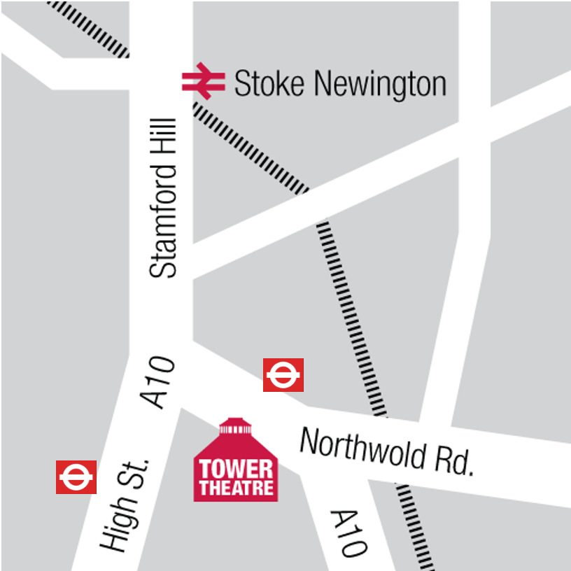 Map of directions to theatre