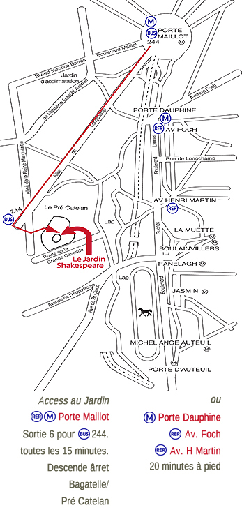 How to get to the Jardin Shakespeare